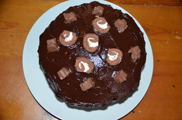 Whole Chocolate Fudge Cake