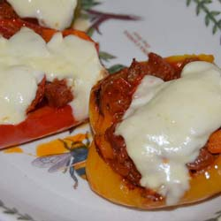 Chorizo Stuffed Peppers - Click For Recipe
