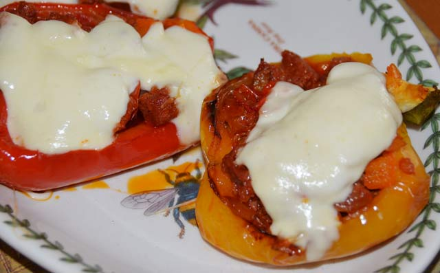 Stuffed Peppers With Chorizo
