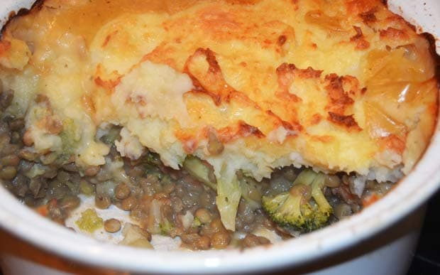 Lentil And Vegetable Potato Gratin