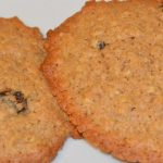 two oat and raisin biscuits