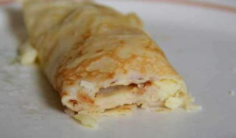 rolled up single pancake