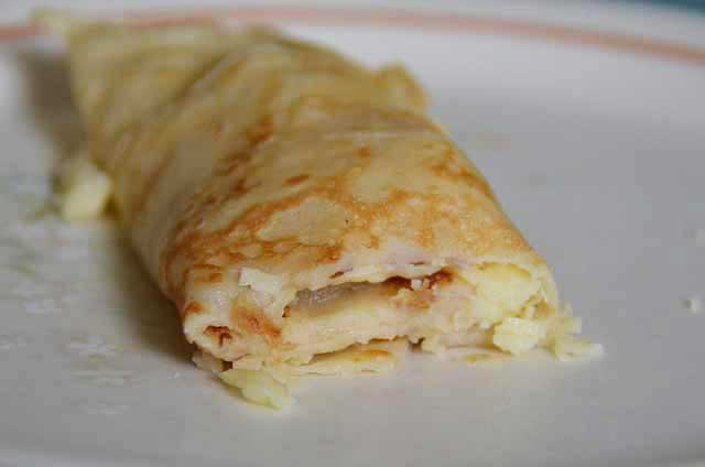 rolled up single pancake