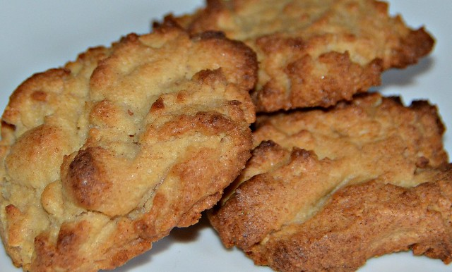 peanut-butter cookies on a plate