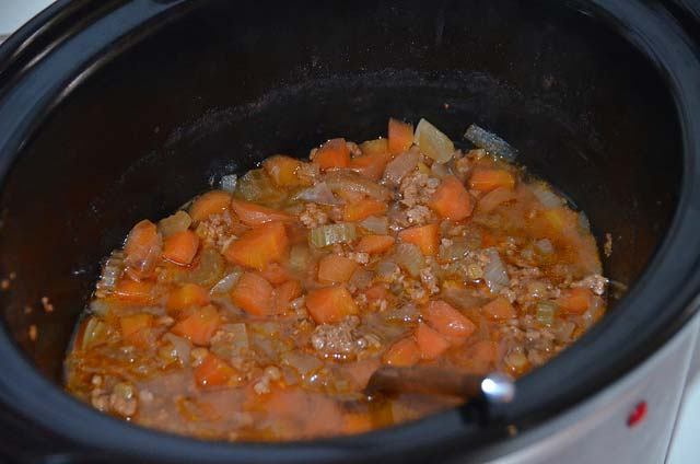 Beef Mince with vegetables and lentils