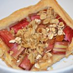 Slice of rhubarb tart